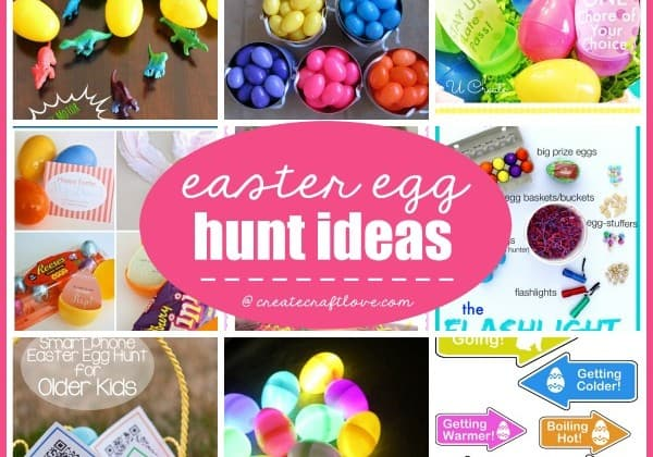 Hey Easter Bunny! Check out these fun Easter Egg Hunt Ideas! via createcraftlove.com