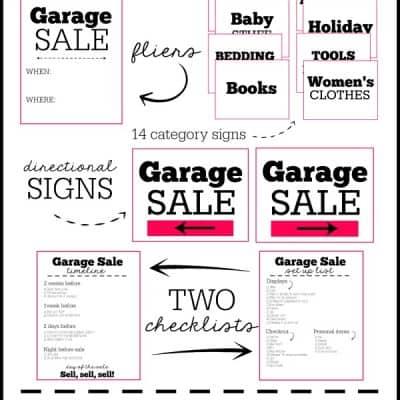 FREE Garage Sale Printables with TWO bonus checklists! via createcraftlove.com
