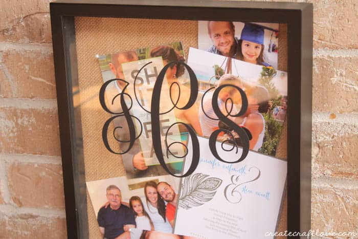 monogram shadow box upclose