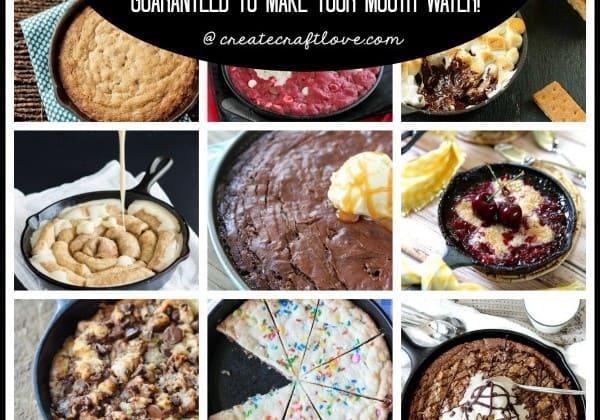 Skillet Dessert Recipes - guaranteed to make your mouth water! via createcraftlove.com