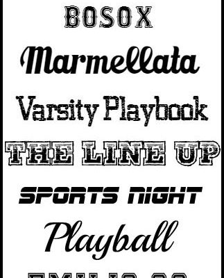 The BEST Sports Fonts