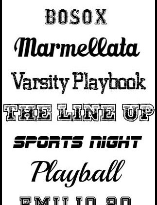 The BEST Sports Fonts available at createcraftlove.com!