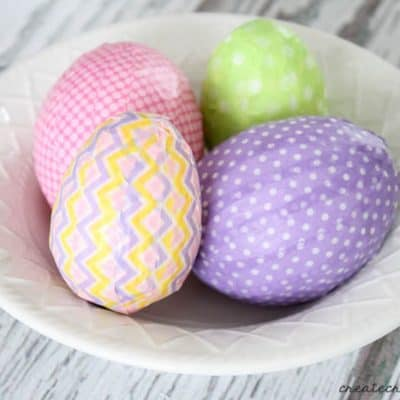 These Washi Tape Easter Eggs can be whipped up in under 10 minutes! via createcraftlove.com