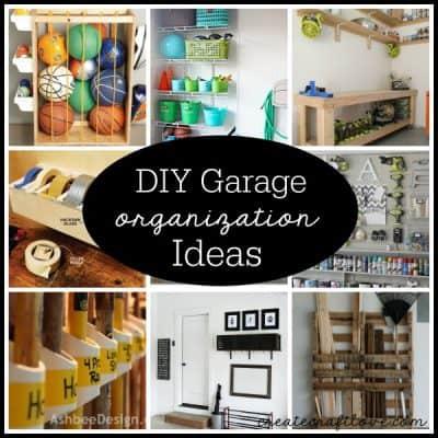 Check out these DIY Garage Organization Ideas via createcraftlove.com!