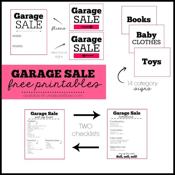 This is a photo of Delicate Free Garage Sale Printables
