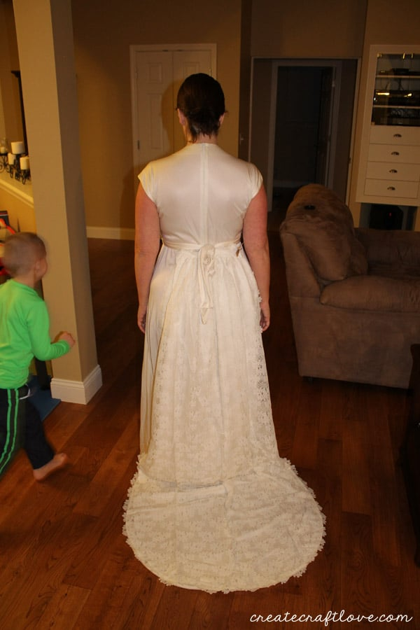 moms dress back