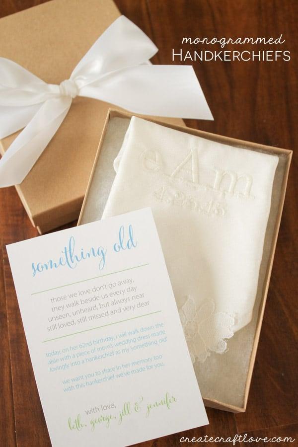 monogrammed handkerchiefs beauty