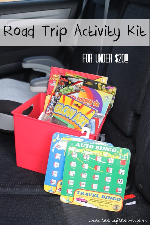 Road Trip Activity Kit for under $20! via createcraftlove.com