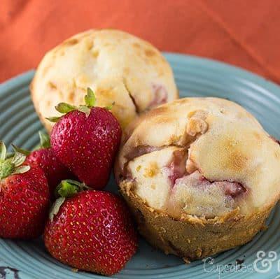 Fresh Strawberries & Cream Muffins   Cupcakes&Crowbars @cupcakescrowbar