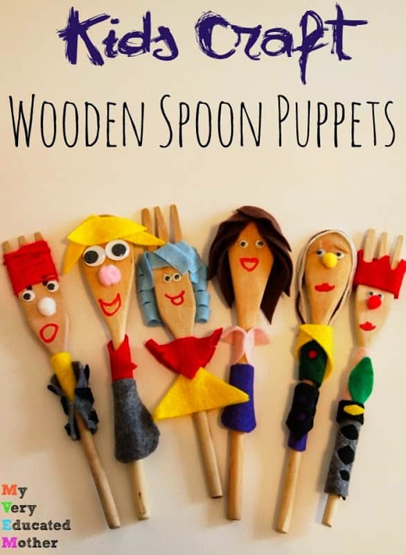 Kids Craft Wooden Spoon Puppets