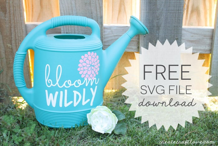 Create your own Personalized Watering Can! Download your free SVG file at createcraftlove.com!