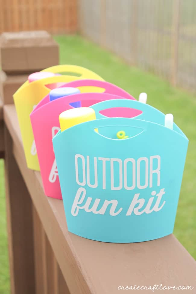 Outdoor Fun Kits to keep the kids busy this summer! via createcraftlove.com for 30 Days!