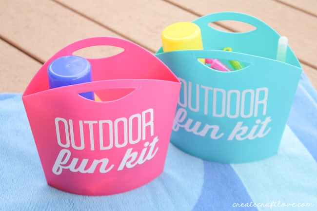outdoor fun kit with towel