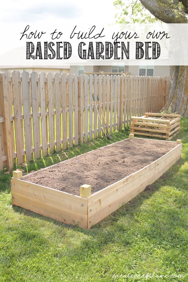 How to build your own Raised Garden Bed at createcraftlove.com!