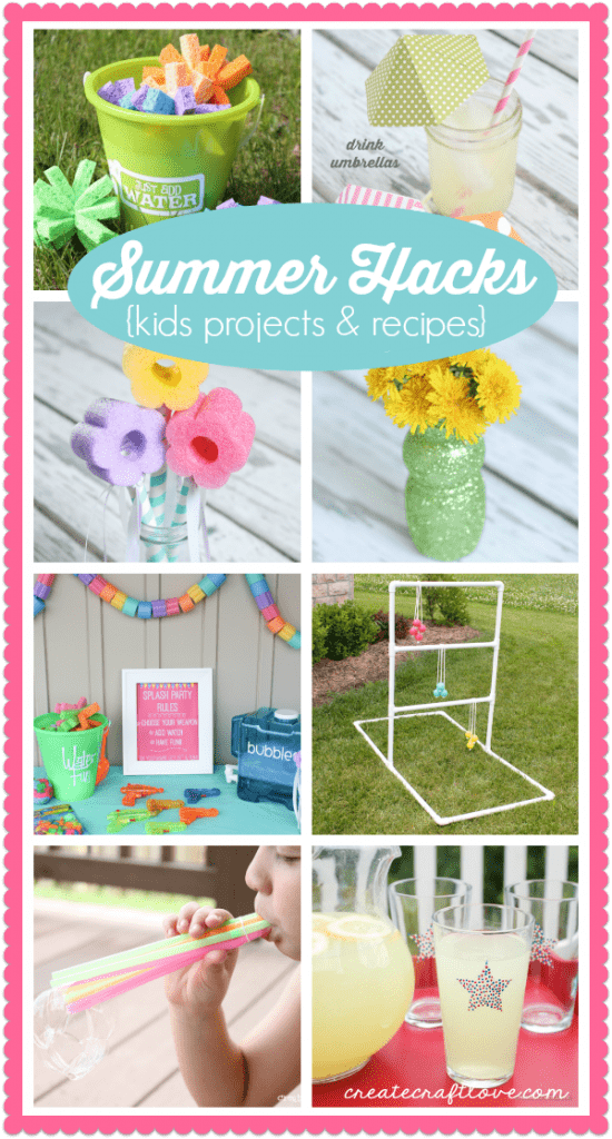 Summer Hacks and Boredom Busters for kids! via createcraftlove.com