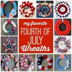 My favorite 4th of July Wreaths via createcraftlove.com