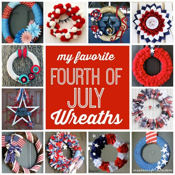 My favorite 4th of July Wreaths via createcraftlove.com