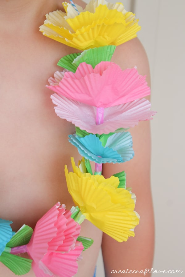 Cupcake liner lei you probably have all of the supplies on hand to make this cupcake liner lei mightylinksfo
