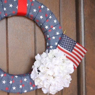 Simple Denim Fourth of July Wreath