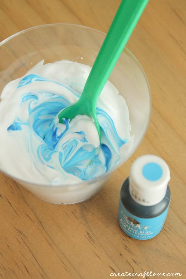 diy bath paint mixing