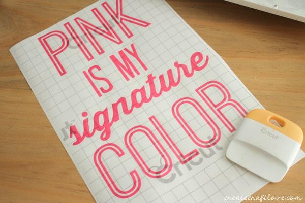 pink vinyl wall decor 4