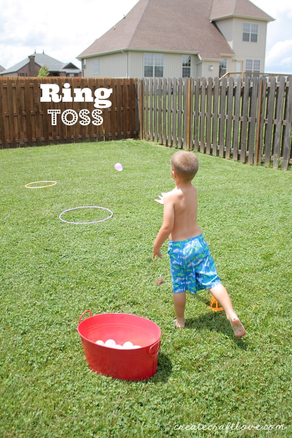 water balloon olympics ring toss