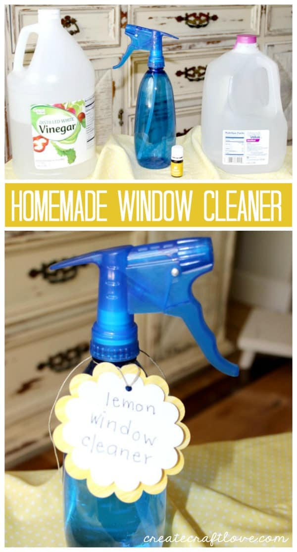 It's beautiful outside!  Shine up your windows with this Homemade Window Cleaner!  via createcraftlove.com