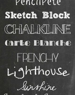 A collection of my favorite digital Back to School Chalkboard Fonts! via createcraftlove.com