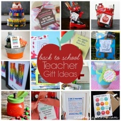 Here are some Back to School Teacher Gift Ideas to inspire you! via createcraftlove.com