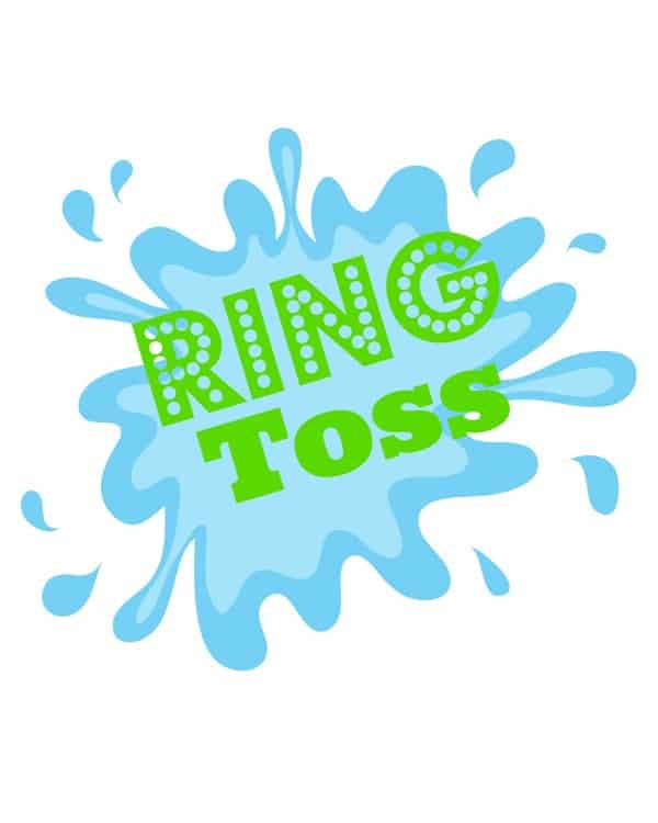water balloon ring toss