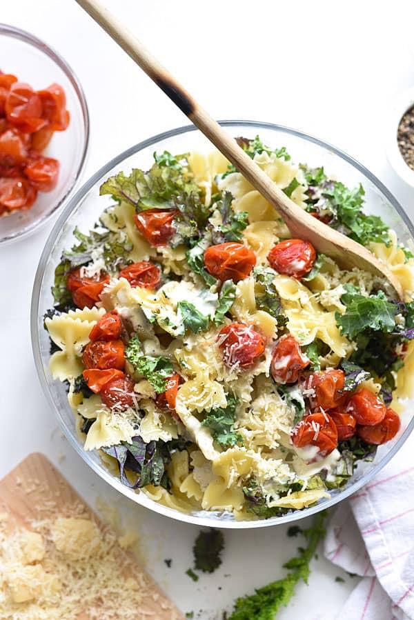 Kale-Caesar-Pasta-Salad-foodiecrush.com-07