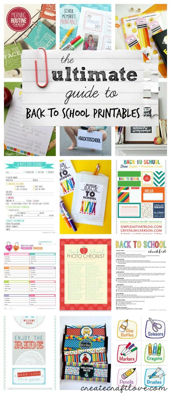The ULTIMATE Guide to Back to School Printables via createcraftlove.com