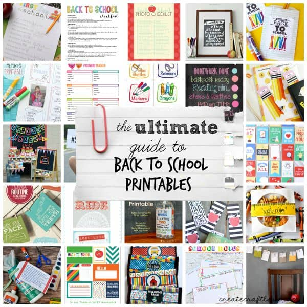 From Pre-K to College, the ULTIMATE Guide to Back to School Printables has you covered!  via createcraftlove.com