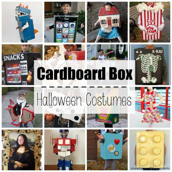 these cardboard box halloween costumes are so imaginative fun and cheap to make via - Halloween Box Costumes
