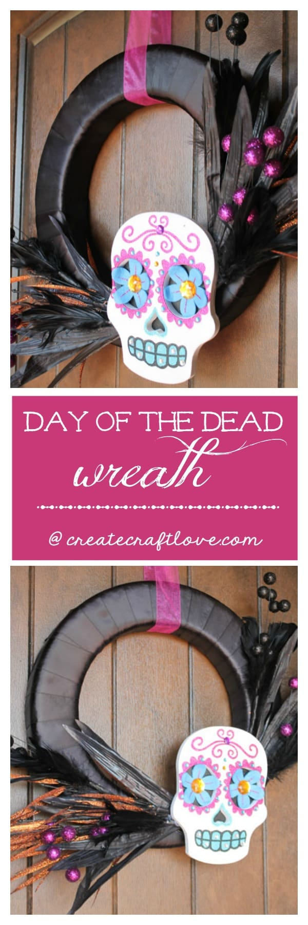 Celebrate your ancestors with this Day of the Dead Wreath!