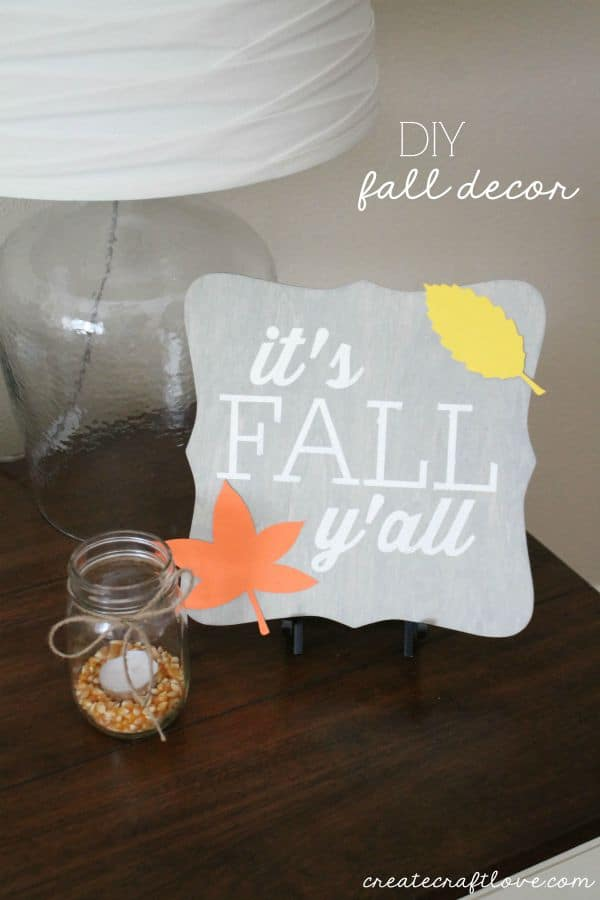 DIY Fall Decor that can be used for Halloween or Thanksgiving! via createcraftlove.com