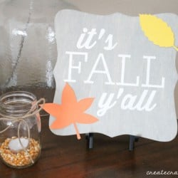 Easy Fall Decor Idea that can be used for Halloween or Thanksgiving! via createcraftlove.com for @the36thavenue