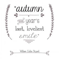 Fall Typography Printables for easy fall decor! via createcraftlove.com