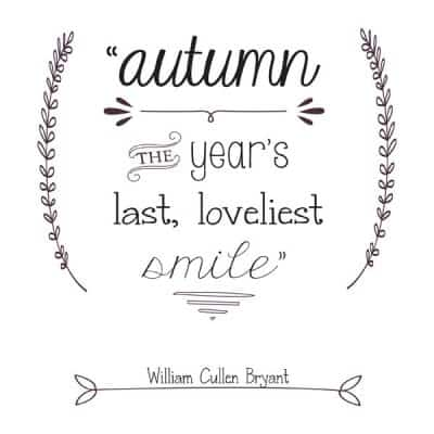 Fall Typography Printables & Giveaway