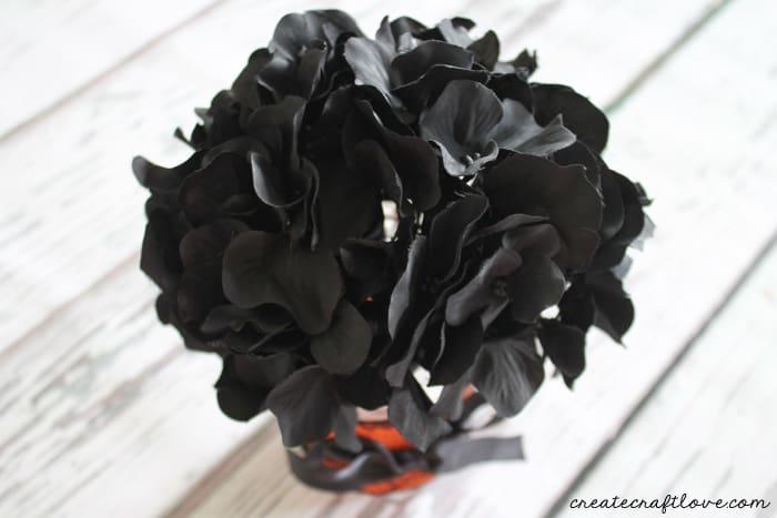 add silk flowers