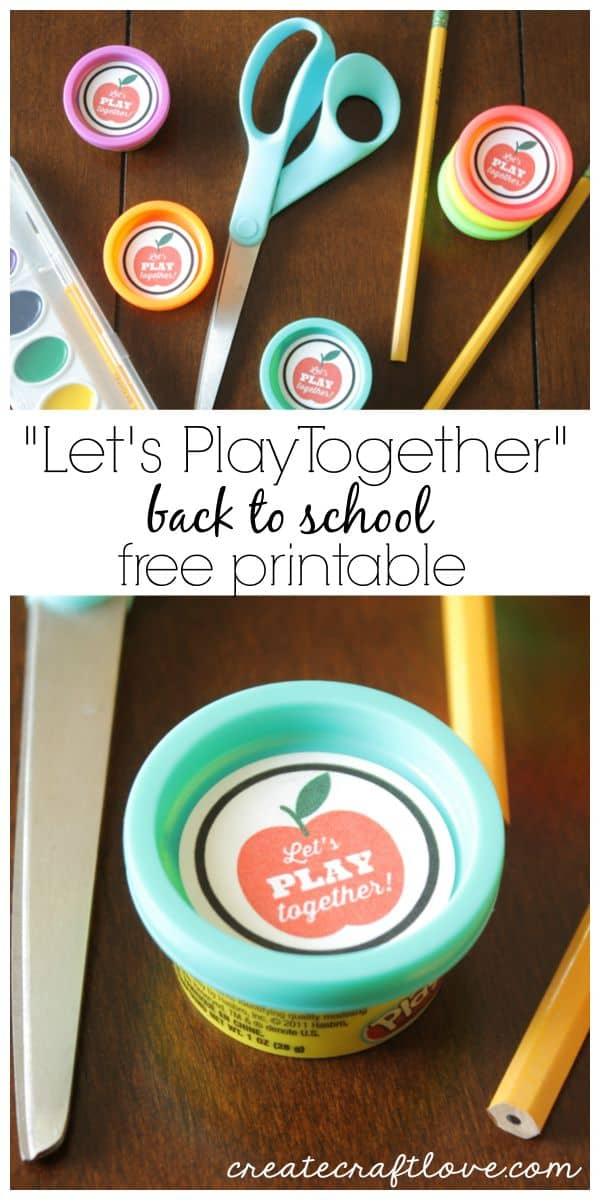 Add this Back to School Printable to the party favor cans of Play-Doh for a class gift! via createcraftlove.com