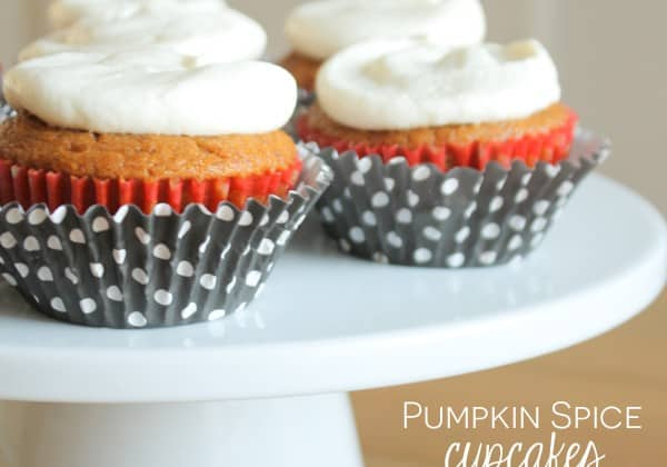 These Pumpkin Spice Cupcakes are everything fall is meant to be! via createcraftlove.com
