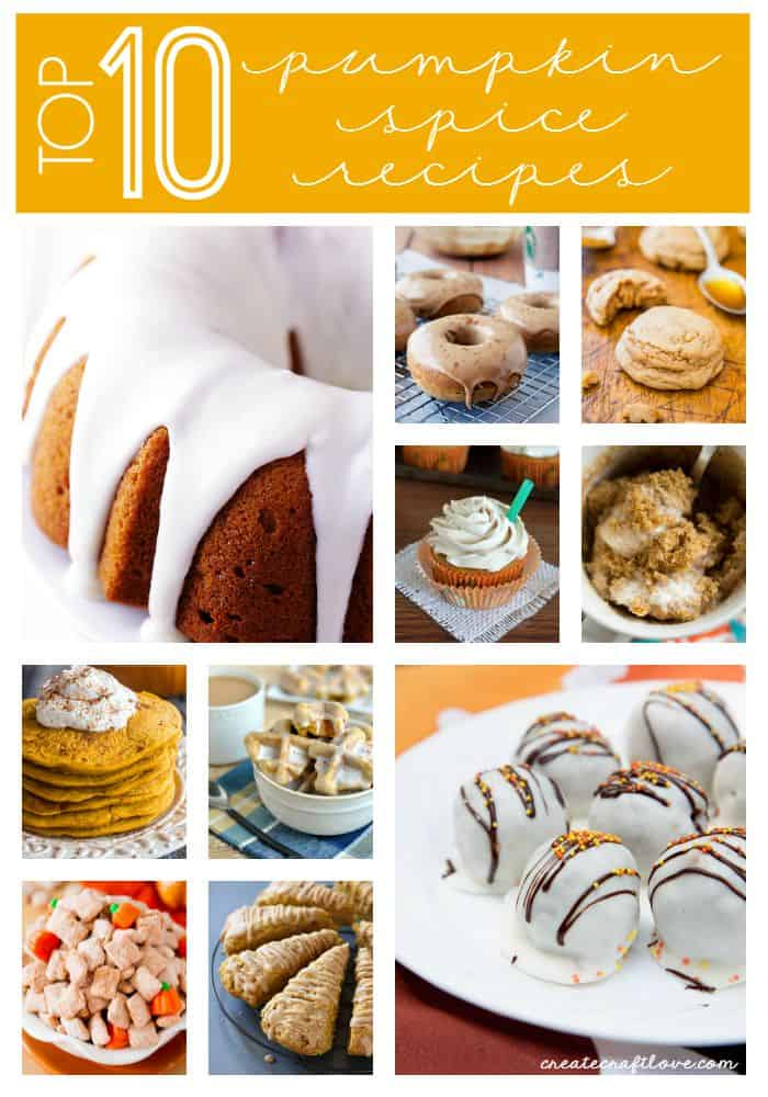 Grab a cup of joe, pull up a chair and drool over these Pumpkin Spice Recipes with me! via createcraftlove.com