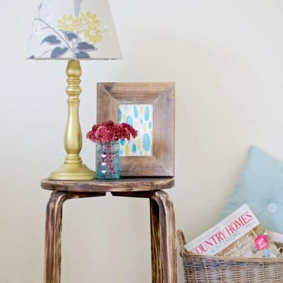 Fall Inspired Lamp Makeover