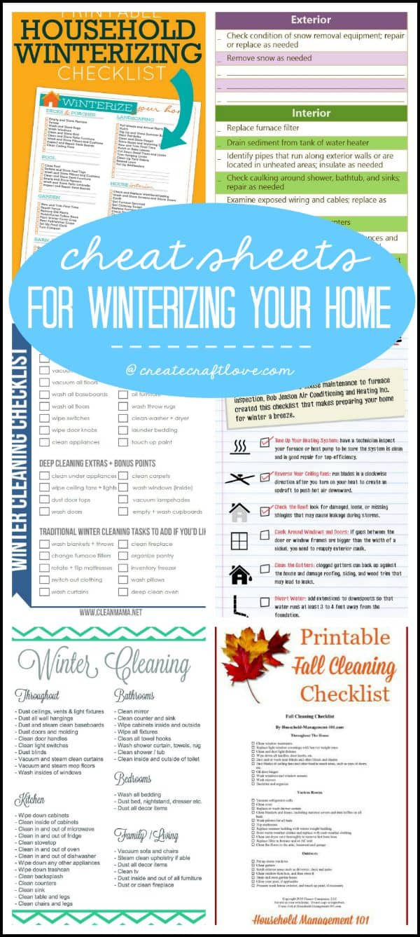 Now that we are heading into the latter half of the year, it's time to thinking about Winterizing Your Home.  via createcraftlove.com