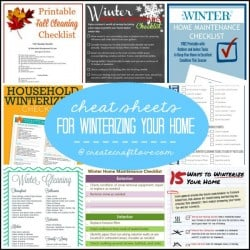 cheat sheets winter square