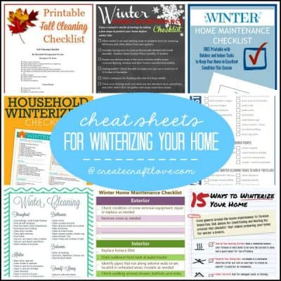 Cheat Sheets for Winterizing Your Home