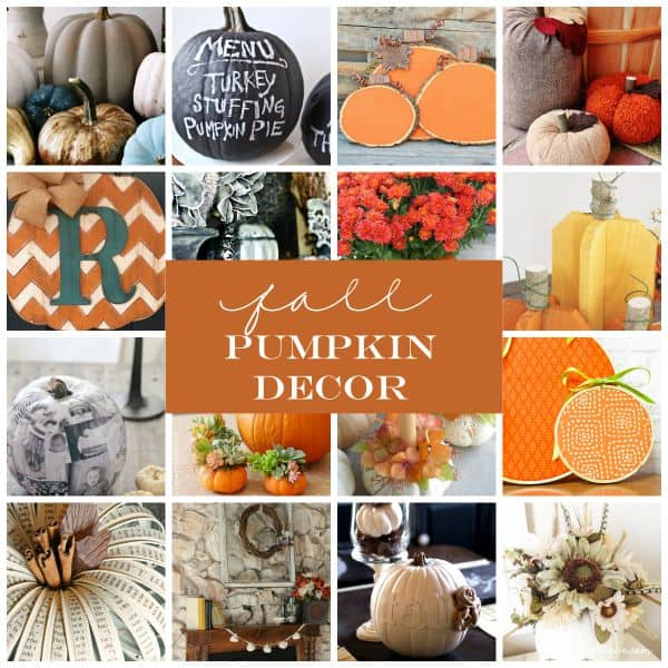 These Fall Pumpkin Decor ideas can be kept up all season long! via createcraftlove.com