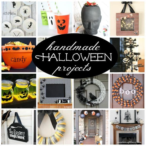 If you're looking to expand your holiday decor, check out these Handmade Halloween Projects Ideas!  via createcraftlove.com