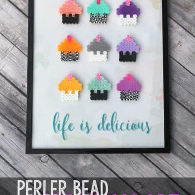 Create this fun and simple perler bead art with your kids! Create your own design and customize the colors to fit any bedroom perfectly!